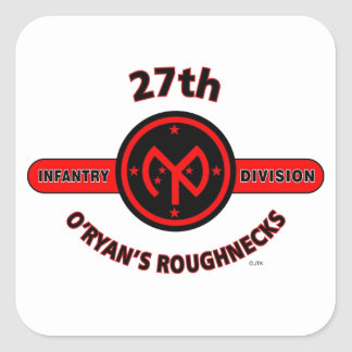 "27TH INFANTRY DIVISION ""O'RYAN'S ROUGHNECKS"" SQUARE STICKER"