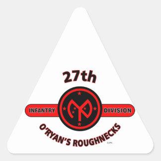 "27TH INFANTRY DIVISION ""O'RYAN'S ROUGHNECKS"" TRIANGLE STICKER"