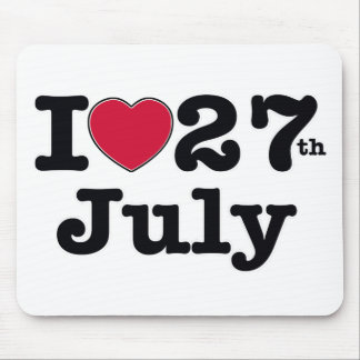 27th july my day of birthday mouse pad