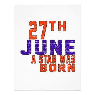 27th June a star was born Customized Letterhead