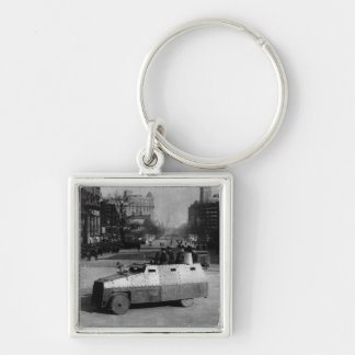 27th March 1917:  The armoured vehicle squadron Silver-Colored Square Keychain