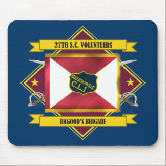 27th SC Volunteer Infantry (Flags 3) Mouse Pad