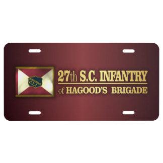 27th South Carolina Infantry (BA2) License Plate
