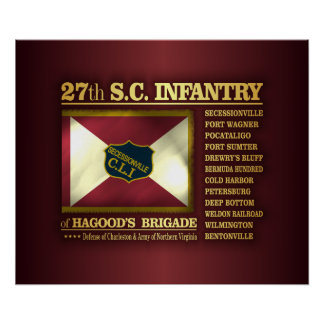 27th South Carolina Infantry (BA2) Poster