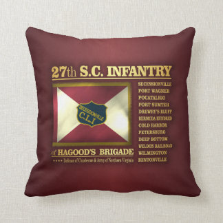 27th South Carolina Infantry (BA2) Throw Pillow