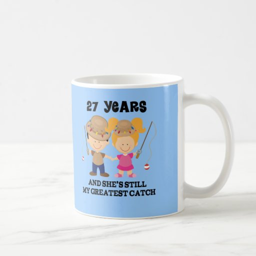 Wedding Anniversary Gifts 27th Year : 27th Wedding Anniversary Gift For Him Classic White Coffee Mug ...