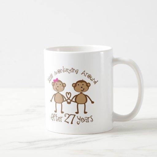 Wedding Anniversary Gifts 27th Year : 27th Wedding Anniversary Gifts Classic White Coffee Mug Zazzle