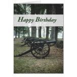 2809 Canons Civil War Birthday Card