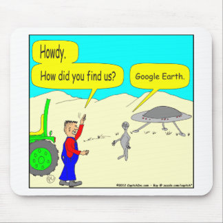 280 How does an alien find Earth Cartoon in color Mouse Pads