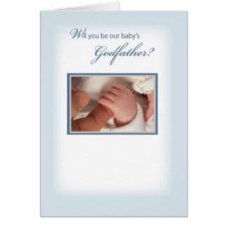 2815 Baby Boy Godfather Request Card