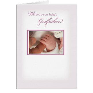 2817 Girl Godfather Invitation Greeting Cards