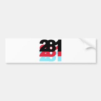 281 Area Code Bumper Sticker