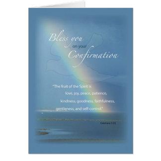 2822 Confirmation Rainbow Card