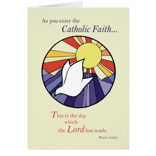 2823 Circle Dove Sun RCIA, Catholic Greeting Card