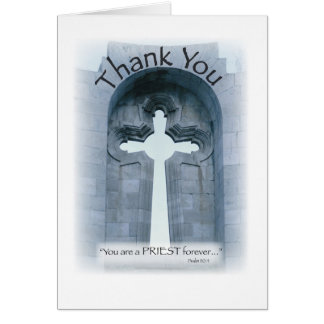 2826 Thank You Priest Cross Greeting Card
