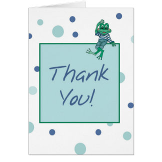 2835 Frog Wearing Jeans Thank You Greeting Card