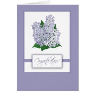 2838 Lilacs Congratulations Card