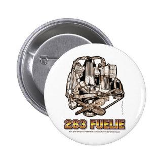 283 Fuelie Corvette Engine Pinback Buttons