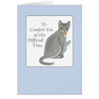 2846 Grey Cat Pet Sympathy Cards