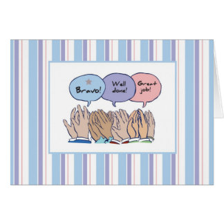 2858 Clapping Hands, Job Well Done Greeting Card