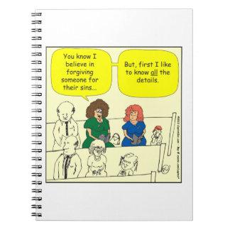 286 Forgiveness in church cartoon Notebook