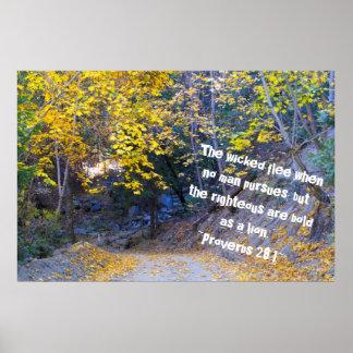 28:1 de los proverbios impresiones