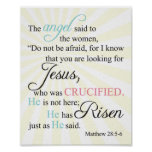 28:5 de Matthew - 6 Poster
