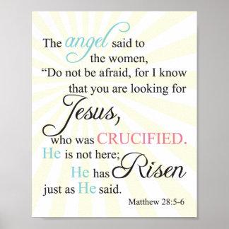 28:5 de Matthew - 6 Póster