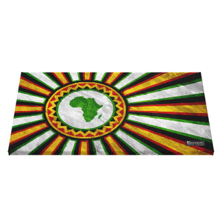 """28.5"""" x 16.5"""" Africa Rising Banner Wrapped Canvas Canvas Print"""