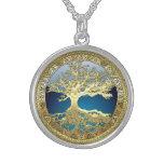 [28] Árbol de la vida céltico de oro Colgantes Personalizados