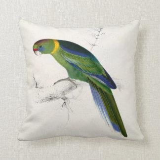 #28-Barnards parrakeet Throw Pillow