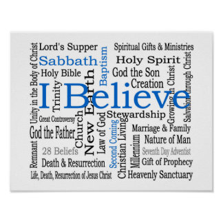 28 Beliefs - Seventh-Day Adventist Poster