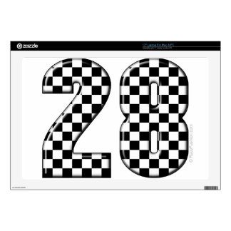 "28 checkers flag number 17"" laptop skin"