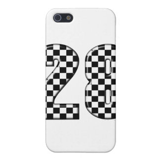 28 checkers flag number case for iPhone SE/5/5s
