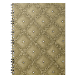 28 Color Choices - Quilted with Crystals Notebook