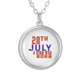 28 de julio una estrella nació colgante redondo