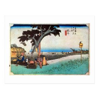 28. Fukuroi inn, Hiroshige Postcard