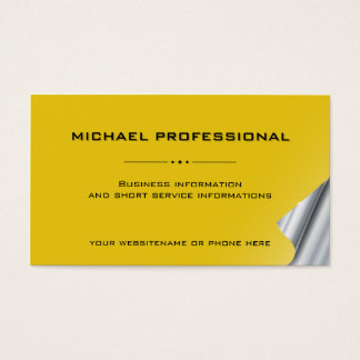 28 Modern Professional Business Card gold yellow