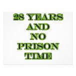 28 No prison time Custom Invitation