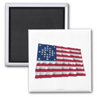 28-star flag, Diamond pattern, Outliers 2 Inch Square Magnet