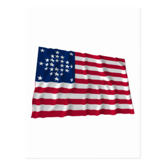 28-star flag, Diamond pattern, Outliers Postcard