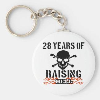 28 years of raising hell keychain