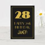 "[ Thumbnail: 28th Birthday ~ Art Deco Inspired Look ""28"" & Name Card ]"