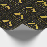 """[ Thumbnail: 28th Birthday ~ Art Deco Inspired Look """"28"""", Name Wrapping Paper ]"""