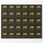 """[ Thumbnail: 28th Birthday – Art Deco Inspired Look """"28"""" & Name Wrapping Paper ]"""