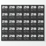 """[ Thumbnail: 28th Birthday: Art Deco Inspired Look """"28"""" & Name Wrapping Paper ]"""