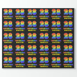 [ Thumbnail: 28th Birthday: Bold, Fun, Simple, Rainbow 28 Wrapping Paper ]