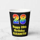 [ Thumbnail: 28th Birthday: Colorful, Fun, Exciting, Rainbow 28 ]