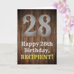 [ Thumbnail: 28th Birthday: Country Western Inspired Look, Name Card ]