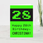 """[ Thumbnail: 28th Birthday: Nerdy / Geeky Style """"28"""" and Name Card ]"""